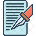 Write Bespoke Order Icon