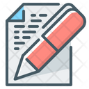 Phrases Copywriting Pen Icon