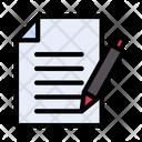Write Paper Document Icon