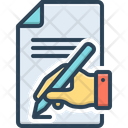 Write Inscribe Agreement Icon