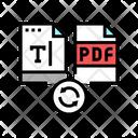 Write Text Pdf Icon