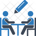 Write Business Meeting Meeting Icon