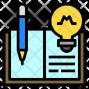 Open Book Pen Lamp Icon