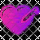 Valentine Day Heart Write Icon