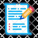 Pen Writing Paper Icon