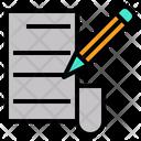 Text Manuscript Script Icon