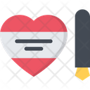Write Valentine Valentine Love Icon