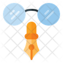 Writer Pen Glasses Icon