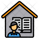 Writer Working At Home Book Icon