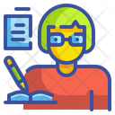 Writer Writing Book Icon