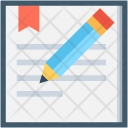 Pencil Paper Notepad Icon