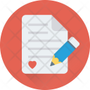 Writing Pen Paper Icon