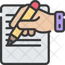 Writing Letter Pastime Icon
