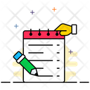 Diary Writing Memo Icon