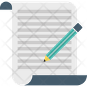 Writing Writing Article Script Writing Icon