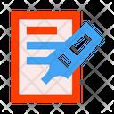 Felt Pen Marker Document Icon
