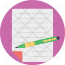 Notes Pencil Paper Icon