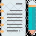 Diary Note Pencil Icon