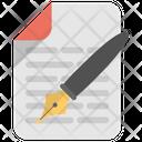 Writing Literature Composition Icon