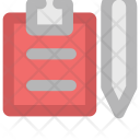 Writing Clipboard Document Icon