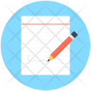 Writing Notes Paper Icon