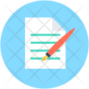 Writing File Editing Icon