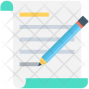 Writing Article Script Icon