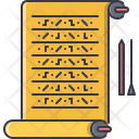 Writing Hieroglyph Scroll Icon