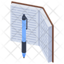 Writing Book Writing Tool Pen And Book Icon