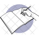 Writing Book Holding Paper Icon