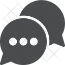 Writing Chat Bubbles Icon