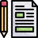 Writing Concept Copywriting Pen And Paper Icon