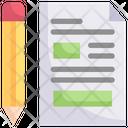 Writing Concept Icon