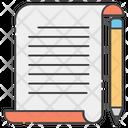 Writing Document Icon
