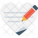 Writing Loving Heart Icon