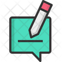 Chatm Writing Message Chat Icon