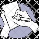 Writing On Pad Writing Holding Icon
