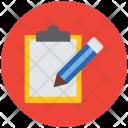 Clipboard Writing Pad Icon