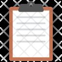 Writing Pad Clipboard Icon