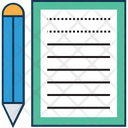 Writing Sheet Extension File File Icon
