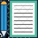 Writing Sheet Icon