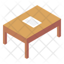 Writing Table Teacher Table Furniture Icon