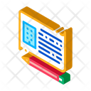 Written Building Information Building Contract Building Planning Icon