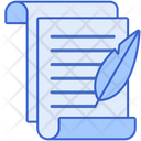 Written Documents Paperwork Article Icon