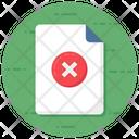 Wrong File Incorrect File Delete File Icon