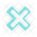 X Cross No Icon