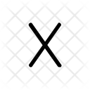 X Alphabet Symbol Icon