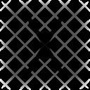 X Alphabet Sign Icon