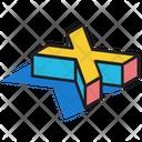3 D X 3 D Letter 3 D Alphabet Icon