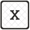 X Lowcase Element Icon